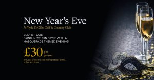 🥂🍾🎊🕛 New Year's Eve at Tydd St Giles Golf & Country Club