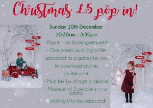 🎅📸 £5 pop-in Christmas photo at Wisbech Christmas Fayre