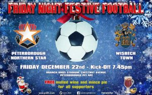 ⭐️⚽️🎄⛄️ FRIDAY NIGHT FESTIVE FOOTBALL  Peterborough Northern Star vs Wisbech Town