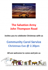🌟 Community Carol Service at Wisbech Salvation Army