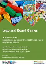 Lego & Board Games Club at Wisbech Library
