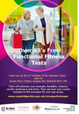 Over 65s functional fitness test - FREE