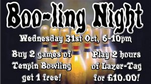 👻 🎃Halloween Boo!-ling or Laser-tag at Play2Day