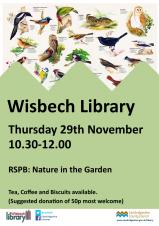 RSPB: Nature in the garden at Wisbech Library