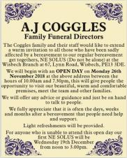 Coggles Ne Solus - bereavement cafe OPEN DAY