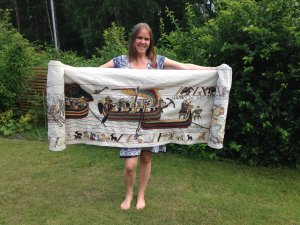 Talk & display at the Museum of the Bayeux Tapestry replica