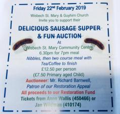 Sausage Supper and Fun Auction