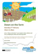 """Down on the Farm"" at the Oasis Child & Family Centre"
