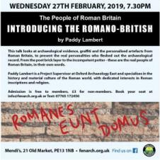 Fenland Archaeology Society The people of Roman Britain: Introducing the Romano–British