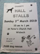 Charity hall of stalls in aid of PAW