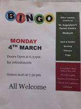 Bingo at St Augustine's
