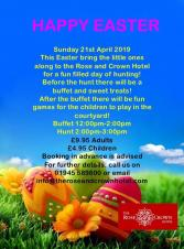 Rose & Crown Easter buffet and egg hunt