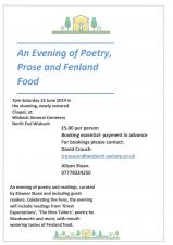 An evening of Poetry & Prose