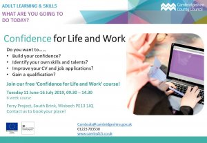 Confidence for work and life course