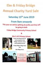 Elm and Friday Bridge Annual Charity Yard Sale