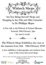 Wisbech Shops talk y Dr Phillipa Mapes