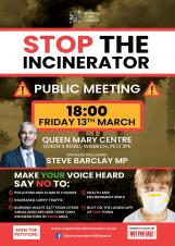 Public Meeting to Stop the Incinerator in Wisbech