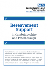 Bereavement Support in Cambridgeshire and Peterborough