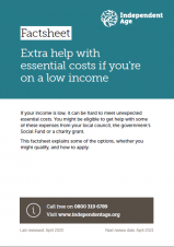 Extra help with essential costs if you're on a low income