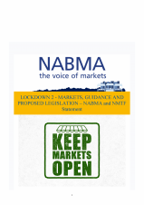 NABMA Guidance for Outdoor Markets during Lockdown