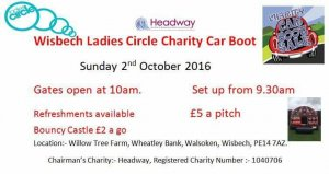 Wisbech Ladies Circle - Headway car boot