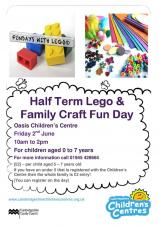 Half Term Lego & Family Craft Fun Day