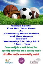 Half Term Garden Sports & Fun Day