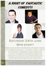 A night of fantastic comedy!