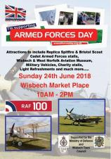 Wisbech Armed Forces Day Celebrating 100 years of the Royal Air Force and the end of WW1