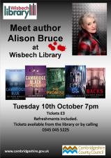 Meet the Author Alison Bruce at Wisbech Library
