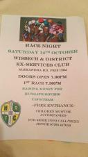 Fundraising race night for Hungate Rovers u10's at the Ex-Services Club