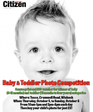 FENLAND CITIZEN BABY & TODDLER PHOTO COMPETITION AT TESCO