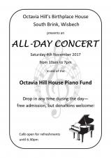 Octavia Hill's Birthplace House all-day concert