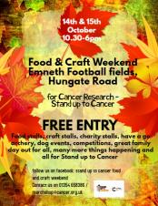 Stand Up To Cancer Food & Craft Weekend